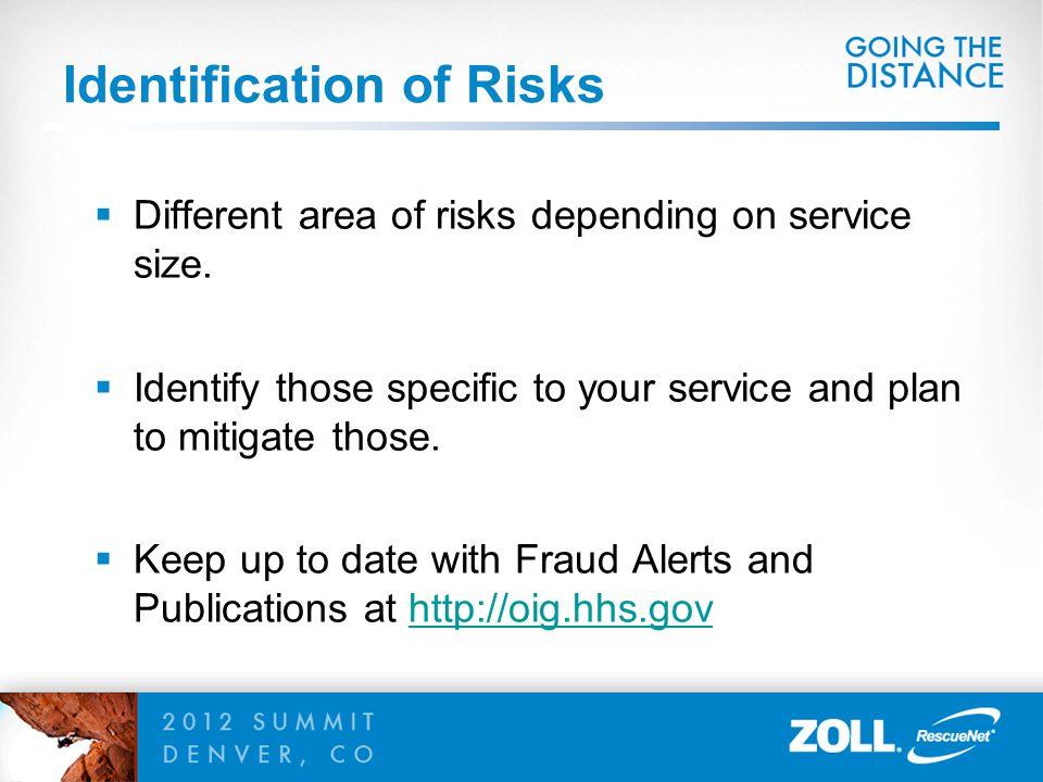Identification of Risks