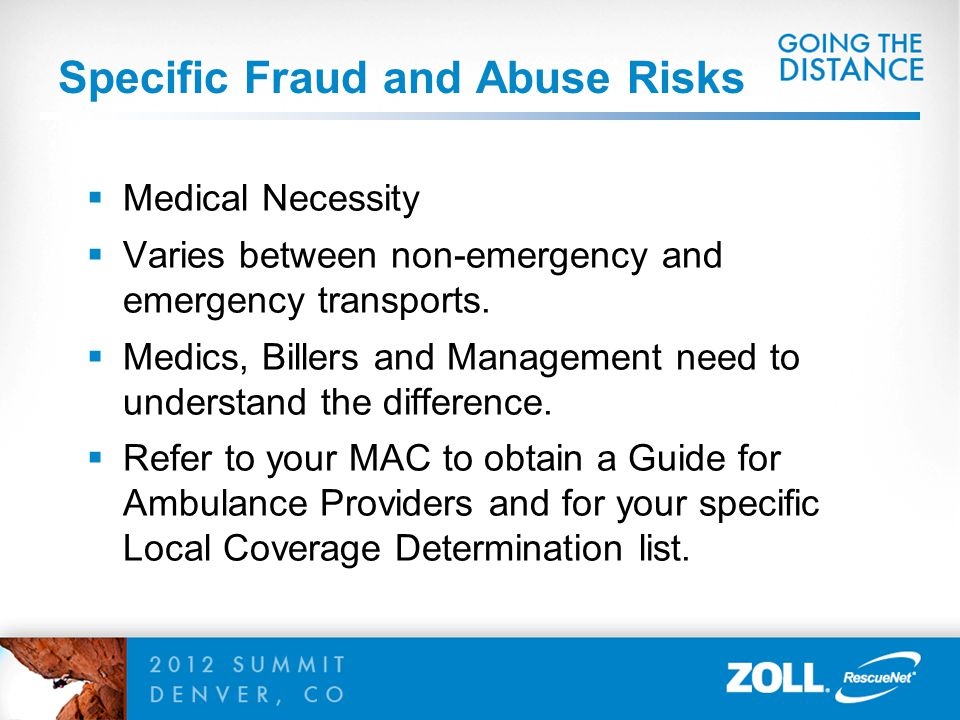 Specific Fraud and Abuse Risks