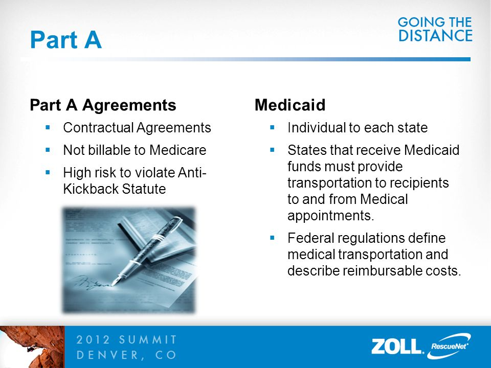 Part A Part A Agreements Medicaid Contractual Agreements
