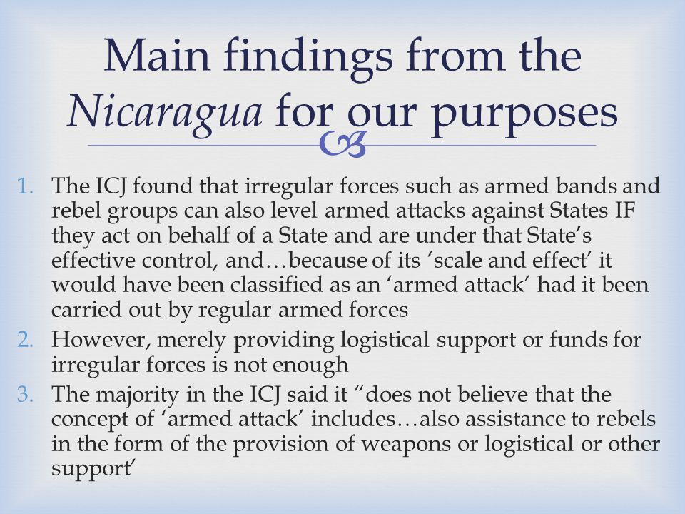 Main findings from the Nicaragua for our purposes