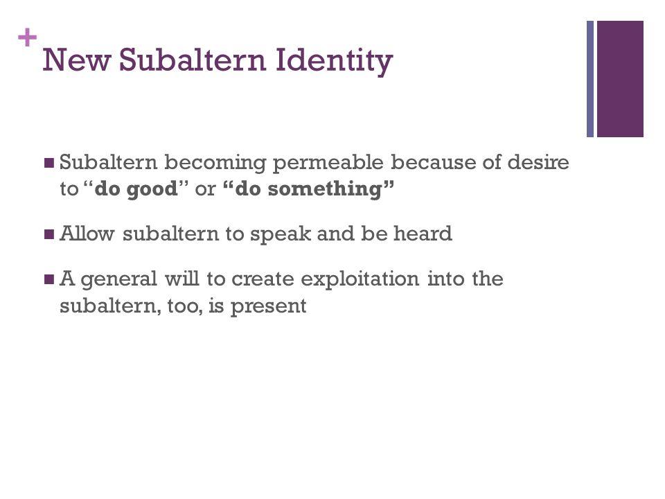 New Subaltern Identity