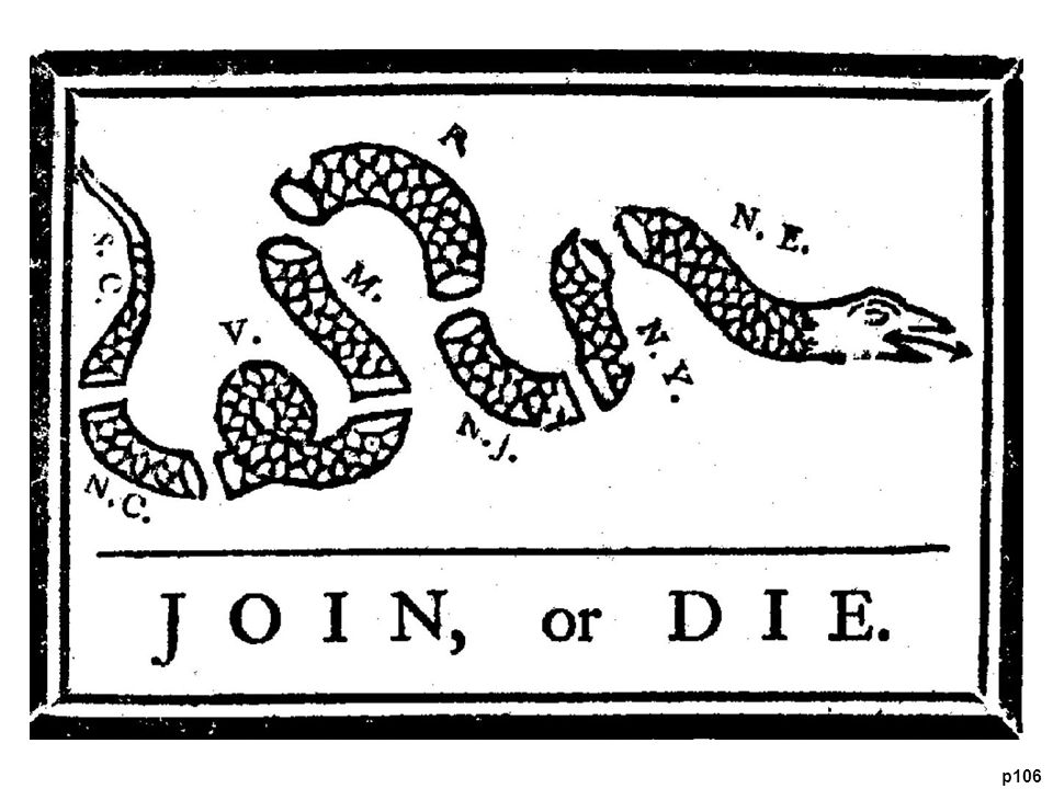Famous Cartoon by Benjamin Franklin Delaware and