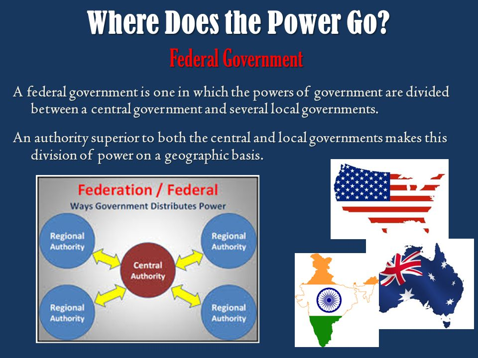 Where Does the Power Go Federal Government