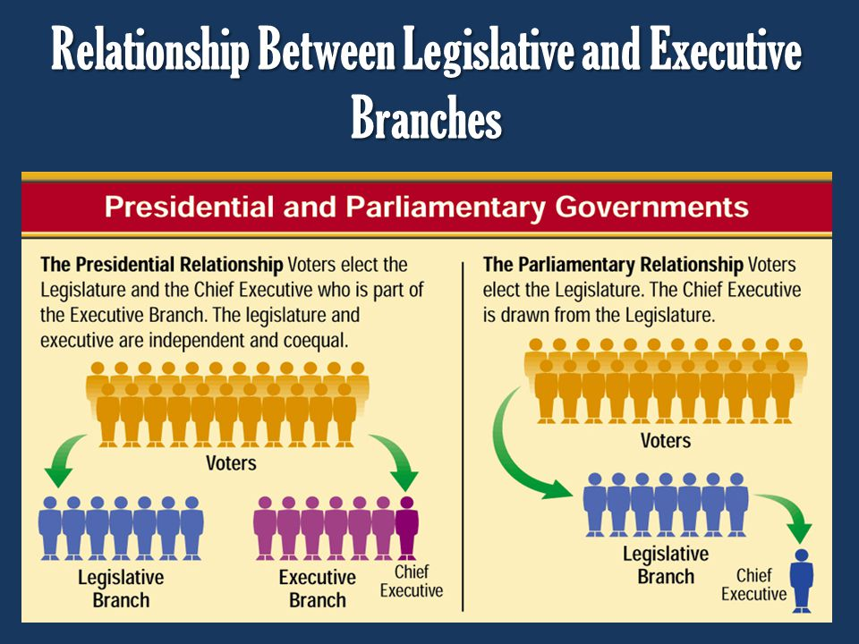 Relationship Between Legislative and Executive Branches