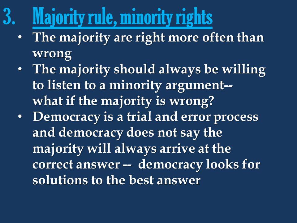 Majority rule, minority rights
