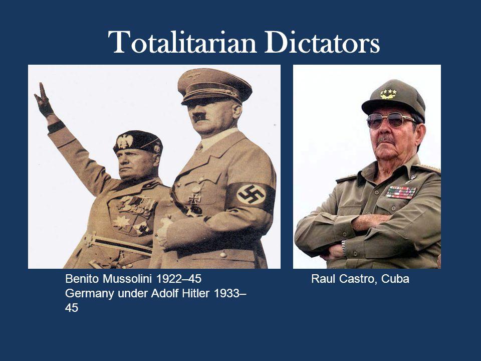 Totalitarian Dictators