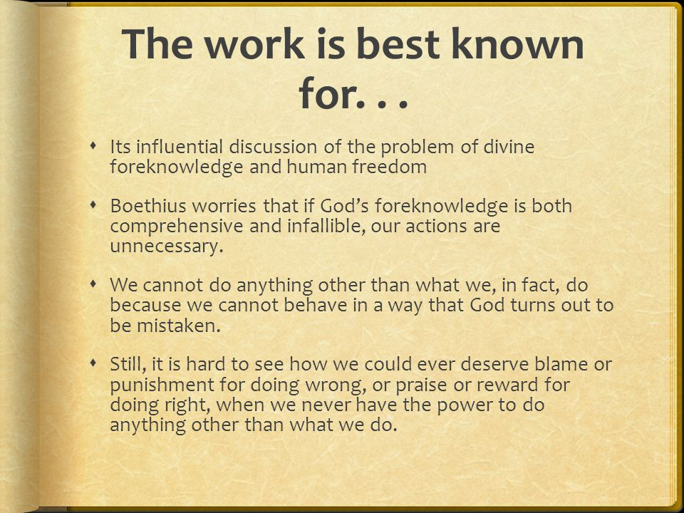 The work is best known for. . .