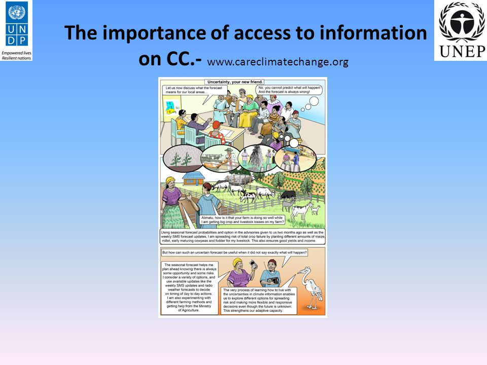The importance of access to information on CC.- www.careclimatechange.org