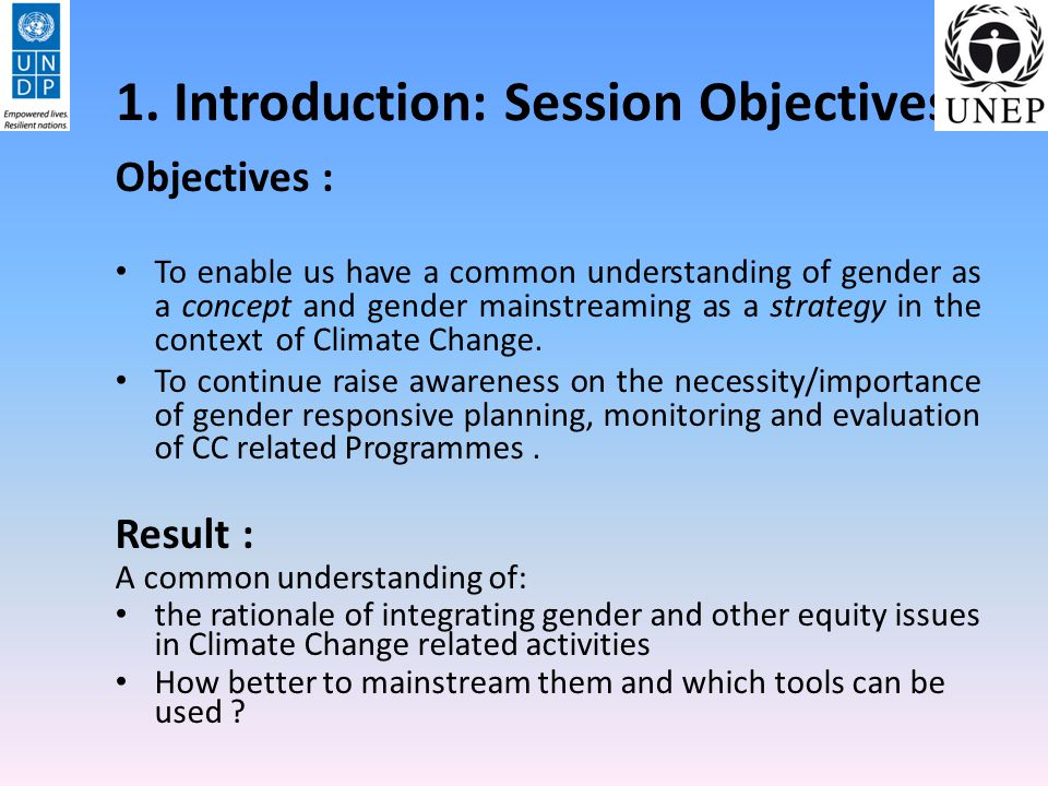 1. Introduction: Session Objectives