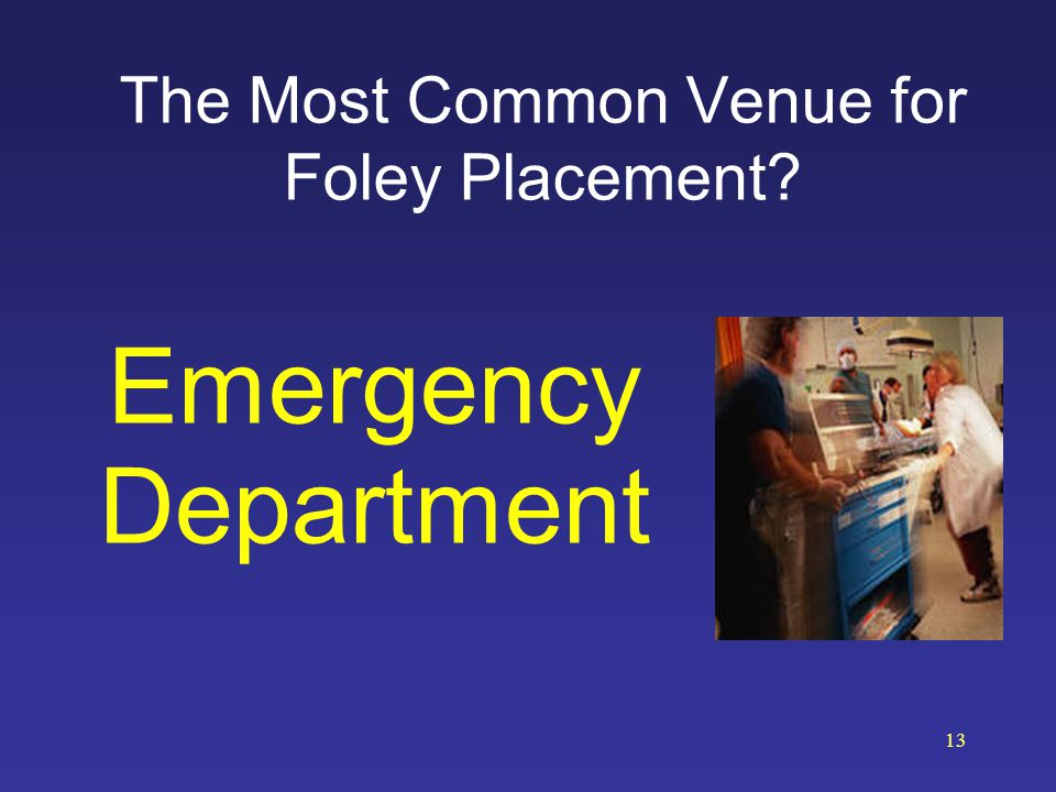 The Most Common Venue for Foley Placement