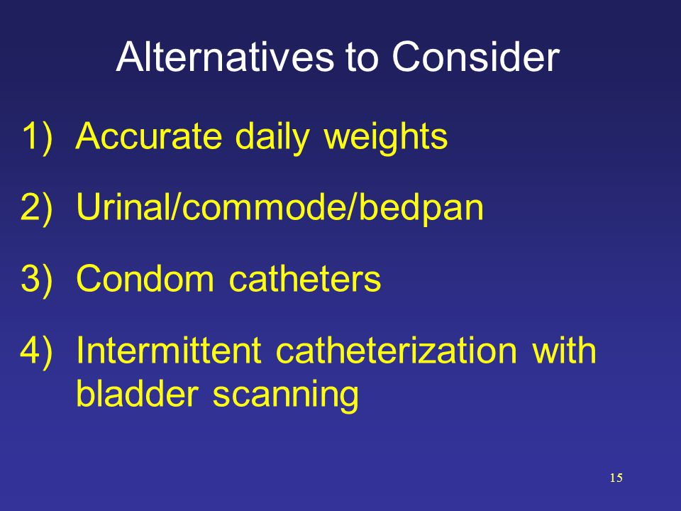 Alternatives to Consider