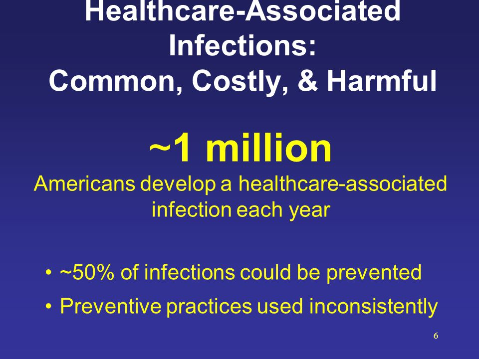 Healthcare-Associated Infections: Common, Costly, & Harmful