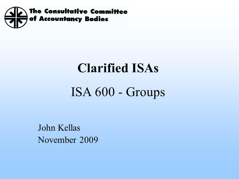 Clarified ISAs ISA 600 - Groups