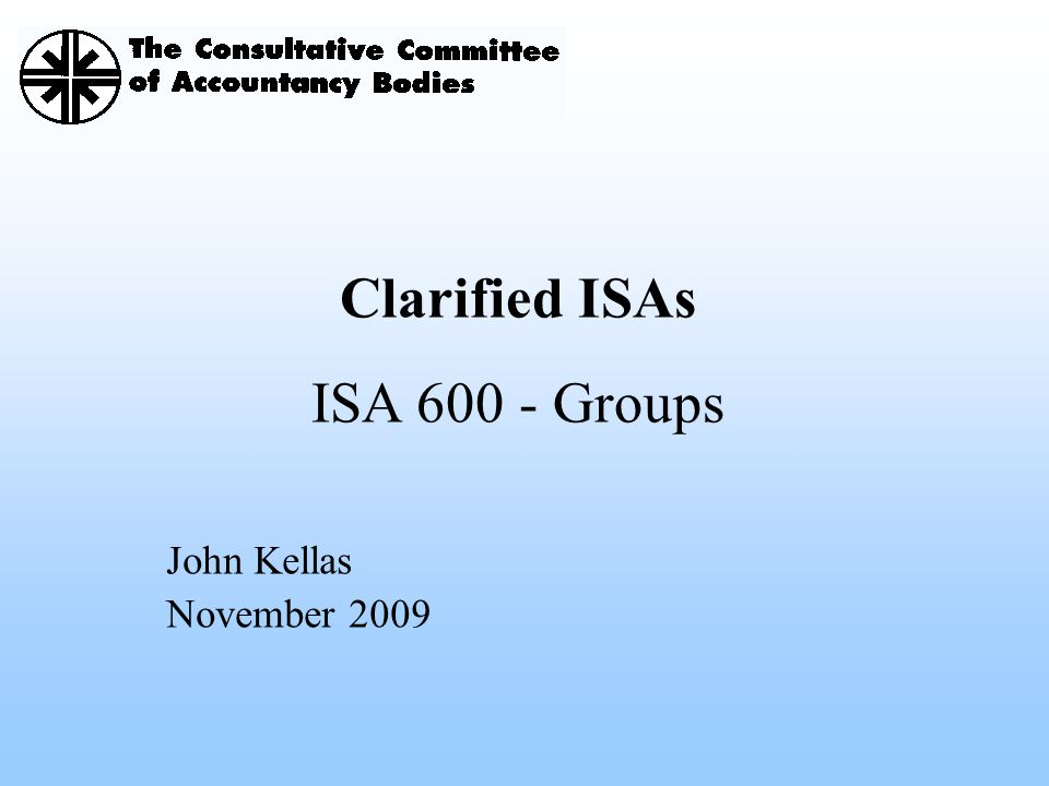 Clarified ISAs ISA Groups