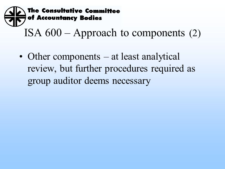 ISA 600 – Approach to components (2)
