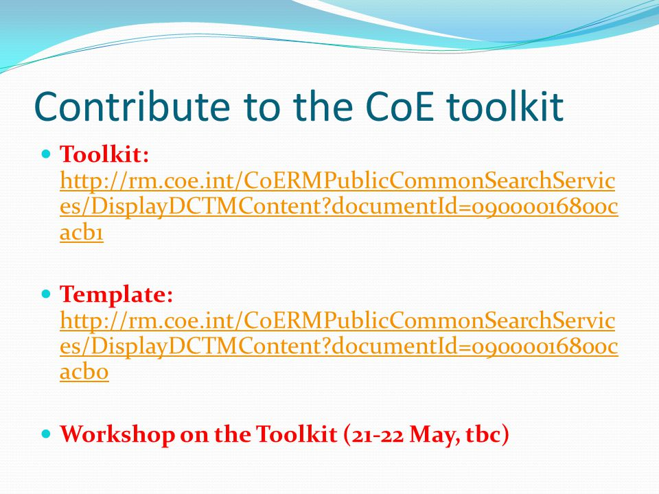 Contribute to the CoE toolkit
