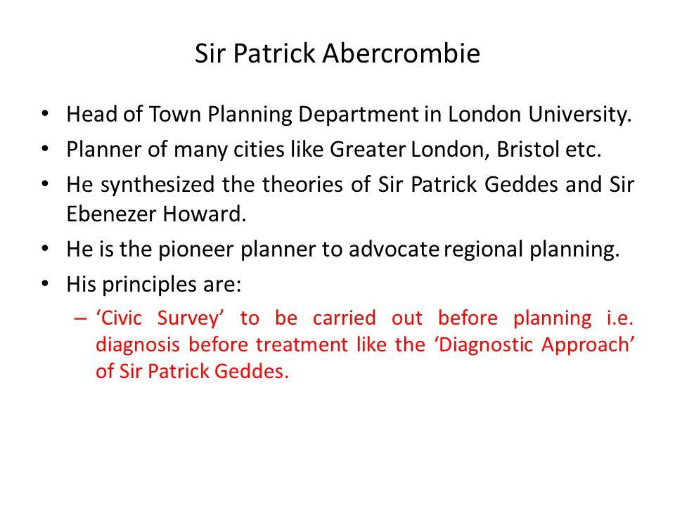 Sir Patrick Abercrombie