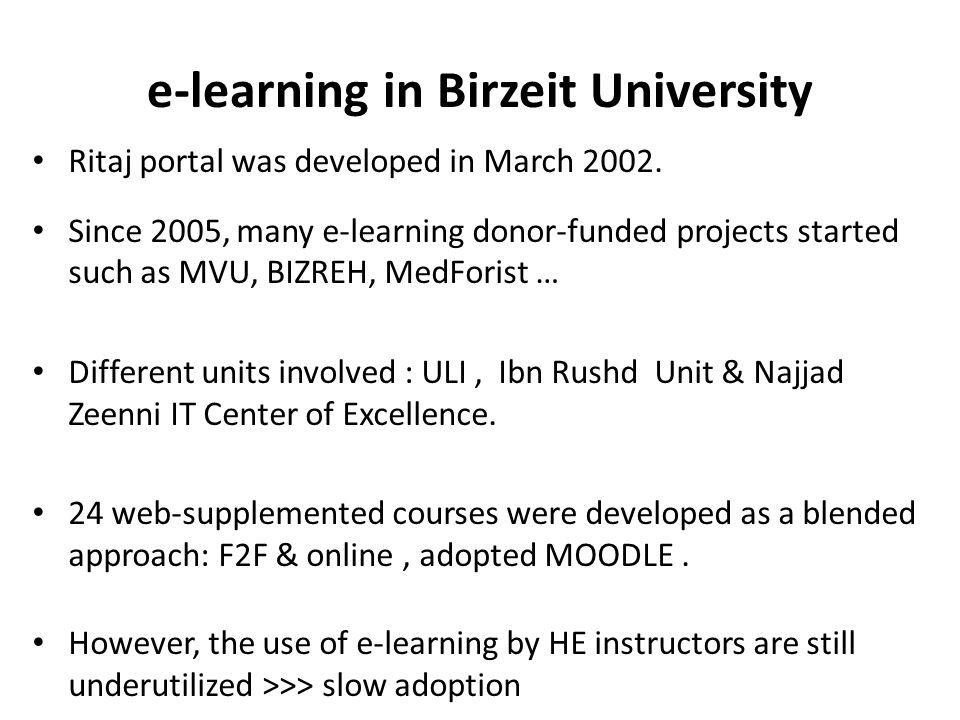e-learning in Birzeit University