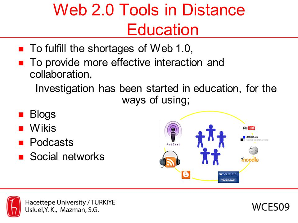 Web 2.0 Tools in Distance Education