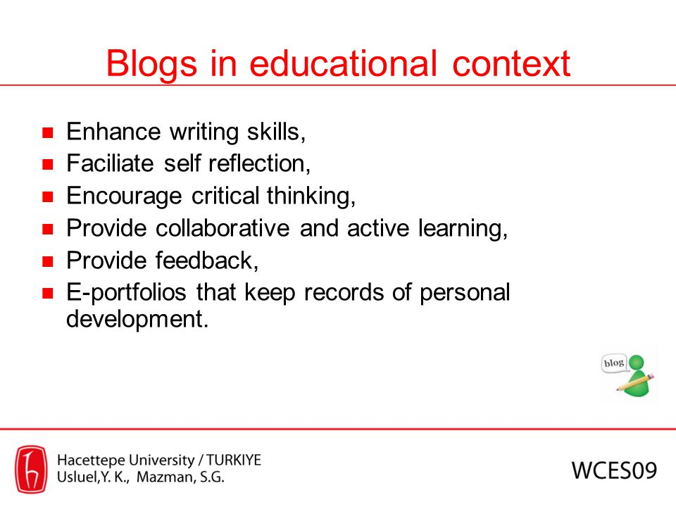 Blogs in educational context