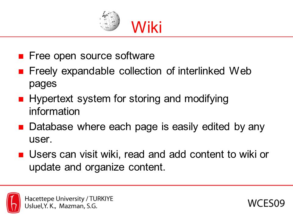 Wiki Free open source software