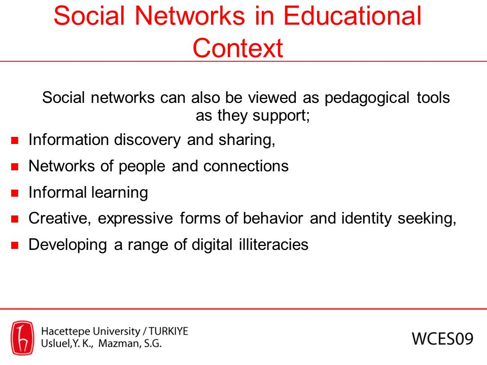Social Networks in Educational Context