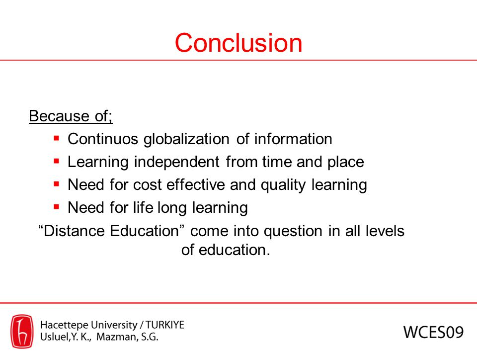 Distance Education come into question in all levels of education.