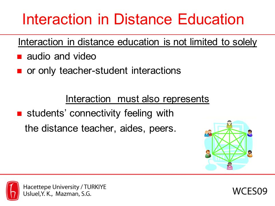 Interaction in Distance Education