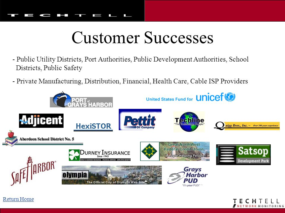 Customer Successes Public Utility Districts, Port Authorities, Public Development Authorities, School.