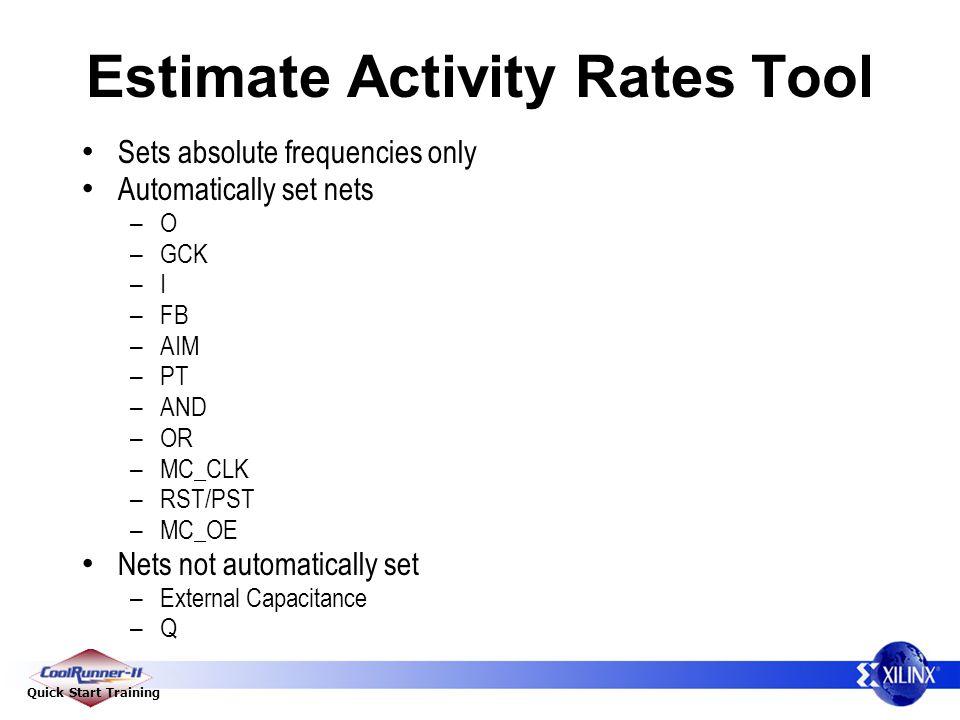 Estimate Activity Rates Tool