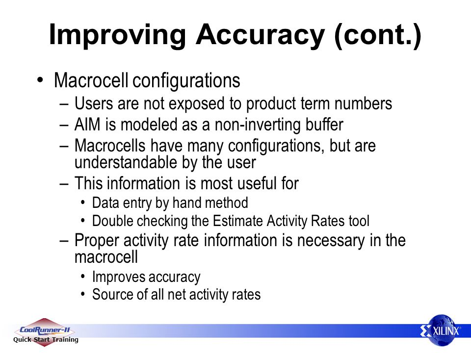 Improving Accuracy (cont.)