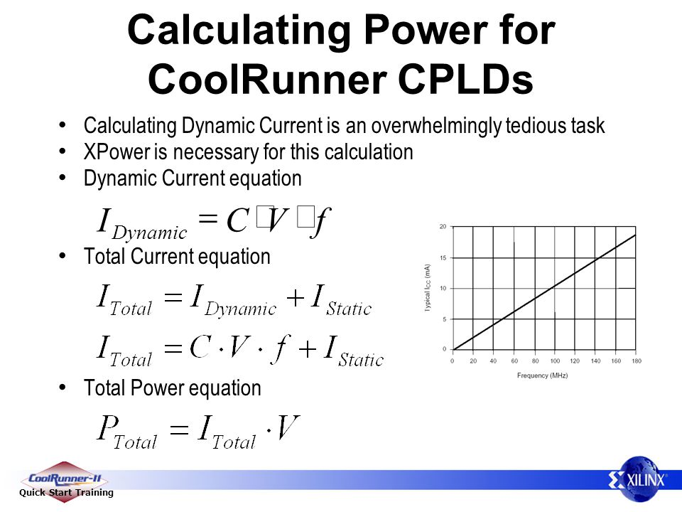 Calculating Power for CoolRunner CPLDs