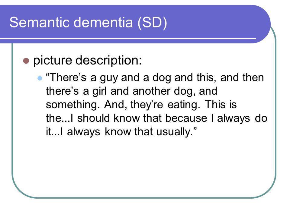 Semantic dementia (SD)