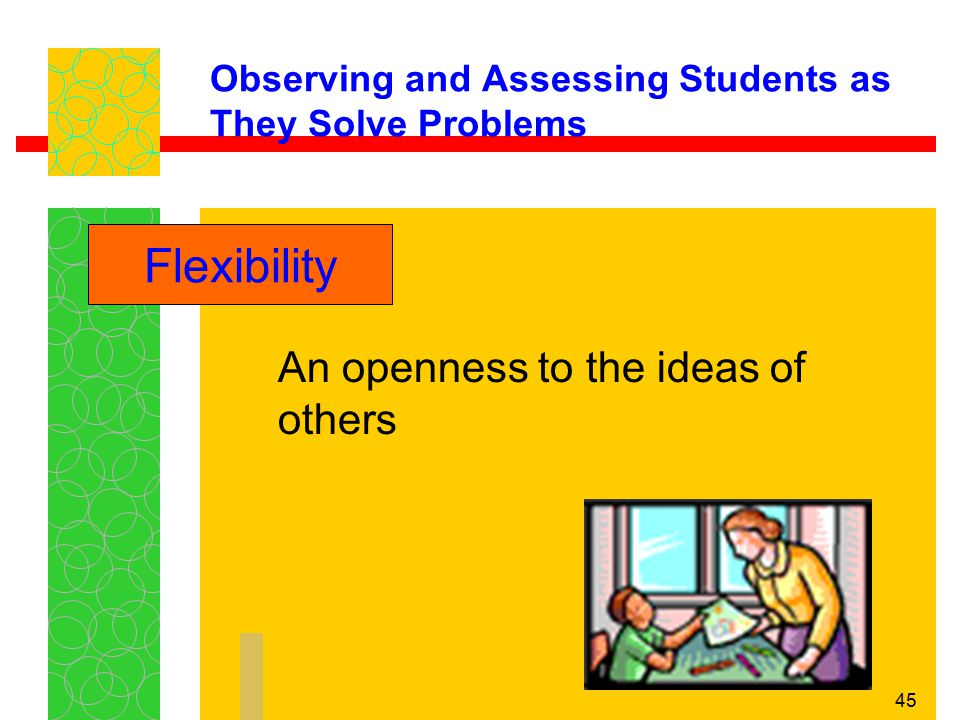 Observing and Assessing Students as They Solve Problems