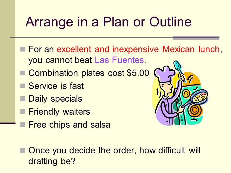 Arrange in a Plan or Outline