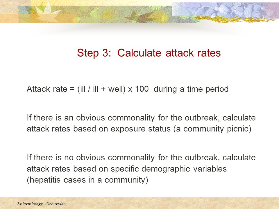 Step 3: Calculate attack rates