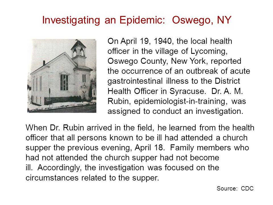 Investigating an Epidemic: Oswego, NY