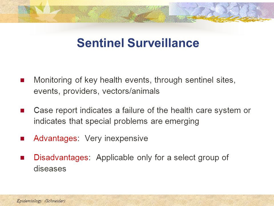 Sentinel Surveillance