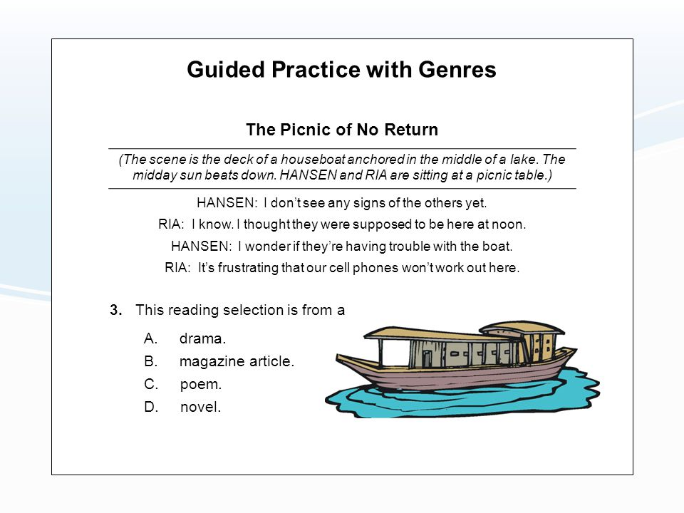 Guided Practice with Genres