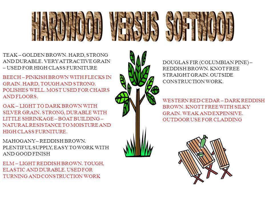 HARDWOOD VERSUS SOFTWOOD