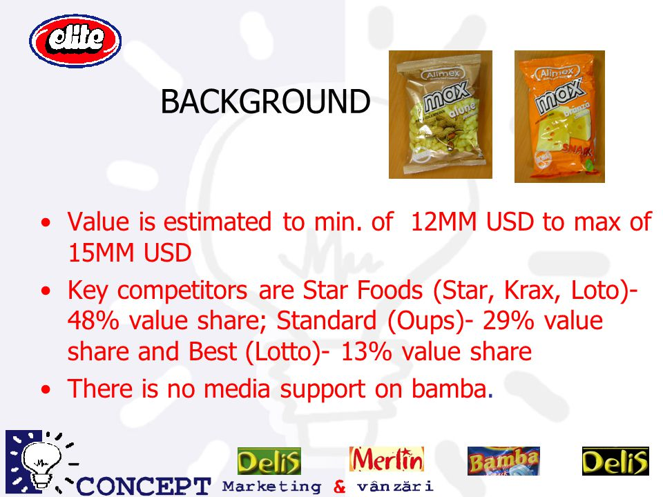 BACKGROUND Value is estimated to min. of 12MM USD to max of 15MM USD