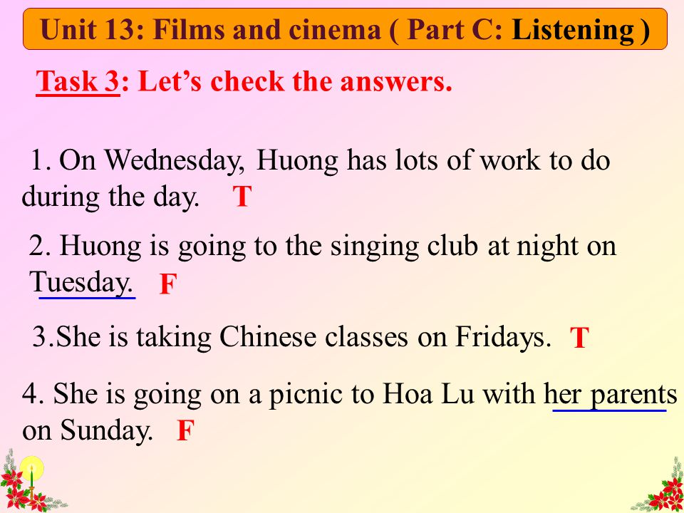 Unit 13: Films and cinema ( Part C: Listening )