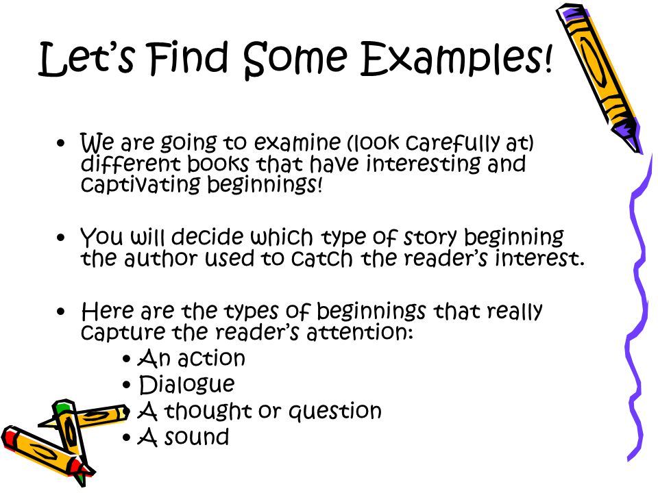 Let's Find Some Examples!