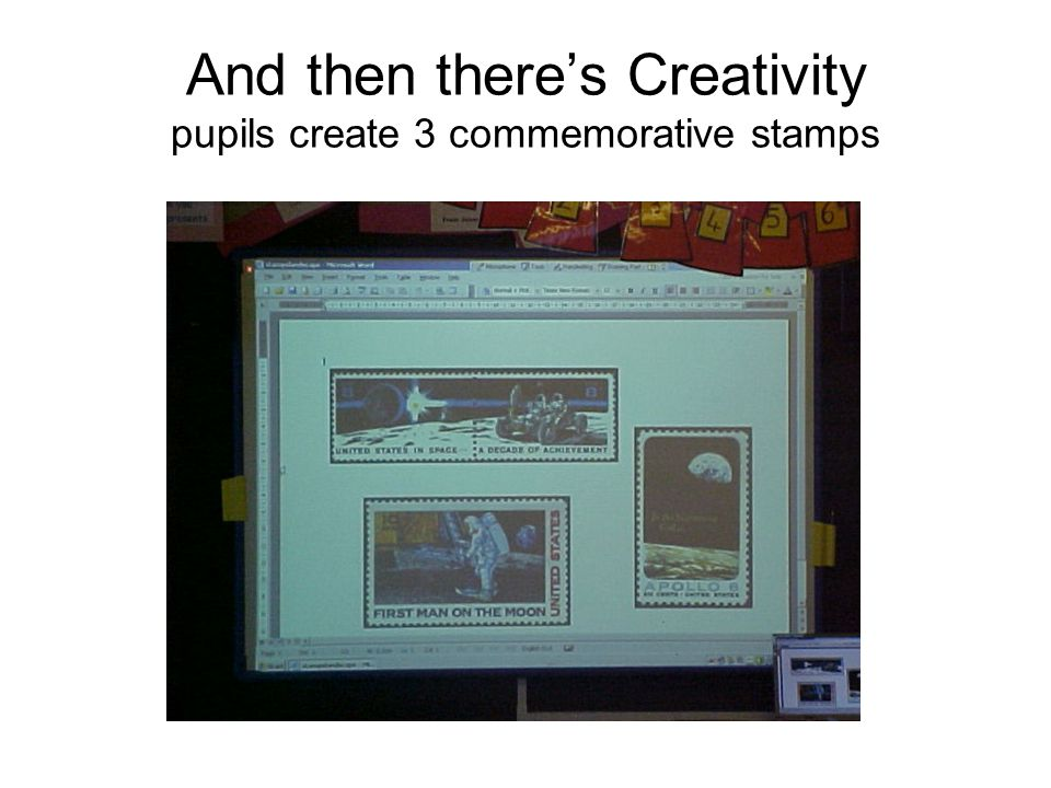 And then there's Creativity pupils create 3 commemorative stamps