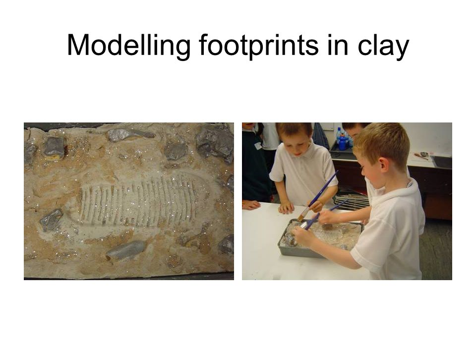 Modelling footprints in clay