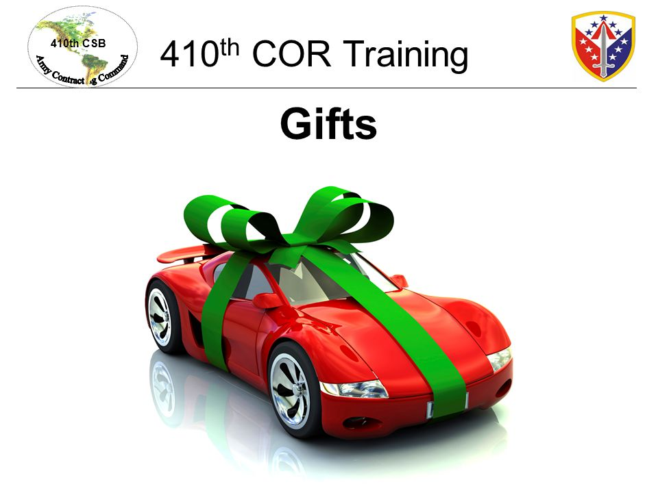 410th COR Training Gifts
