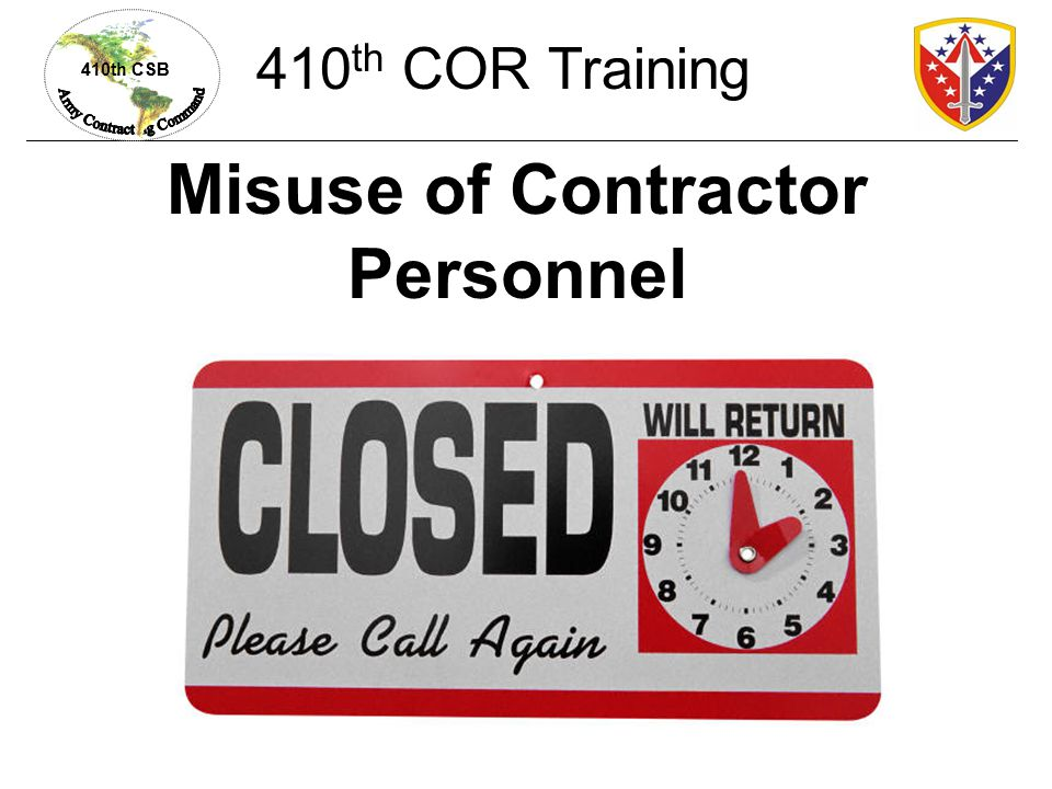 Misuse of Contractor Personnel