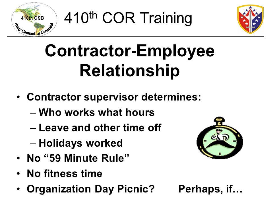 Contractor-Employee Relationship