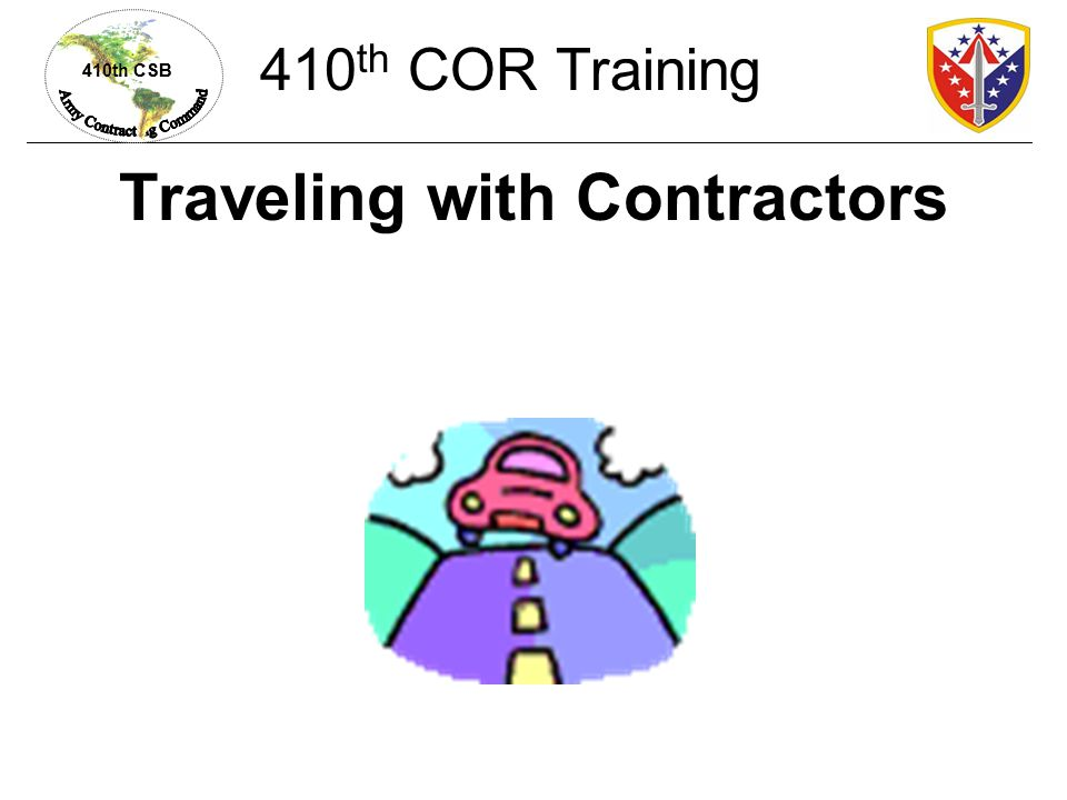 Traveling with Contractors
