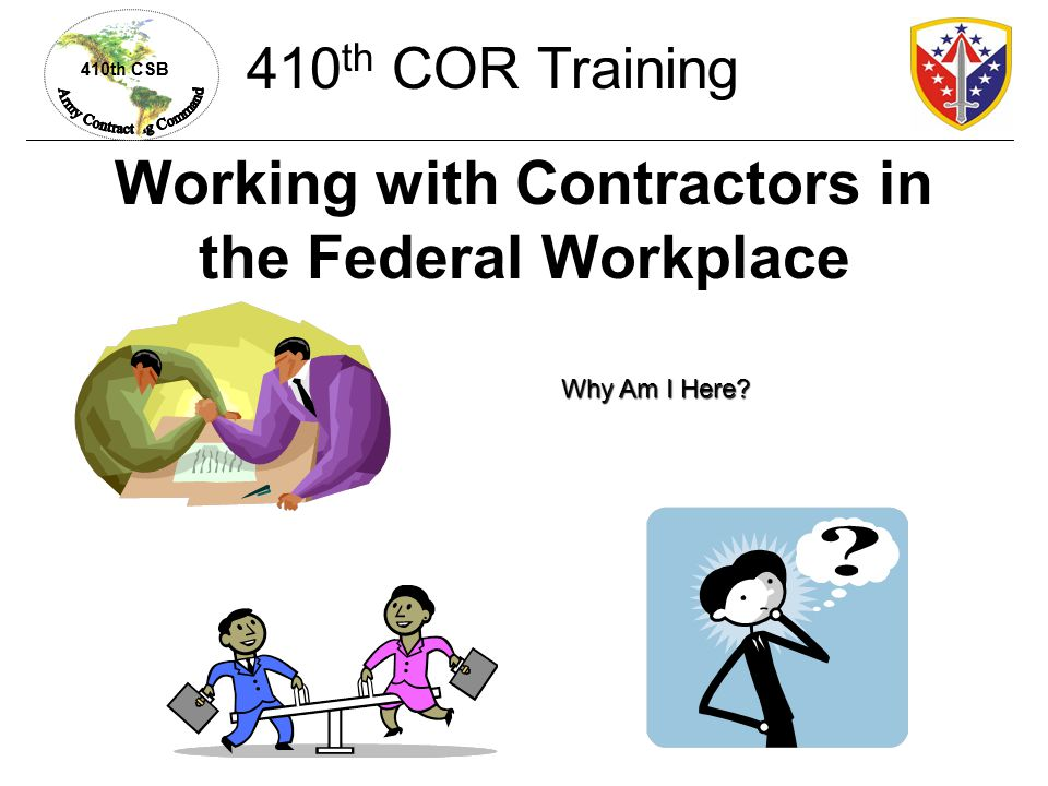 Working with Contractors in the Federal Workplace